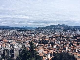 Marseille vista da Catedral de Notre-dame